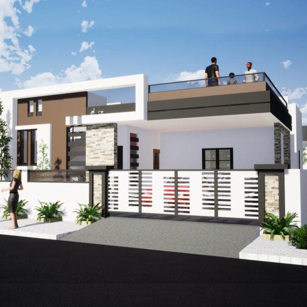 38x52 Feet House Design