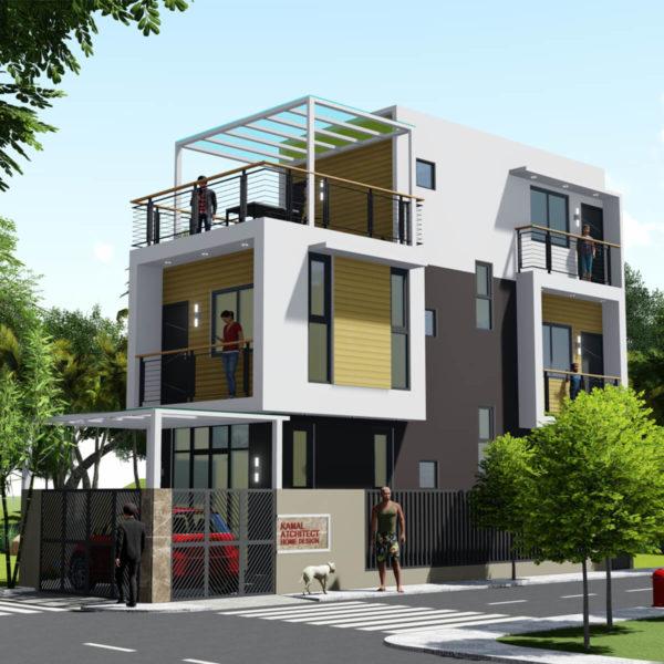 14 Feet By 45 Feet Morden House Design