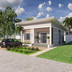 25x32 Feet Small House Design With Two Bedroom