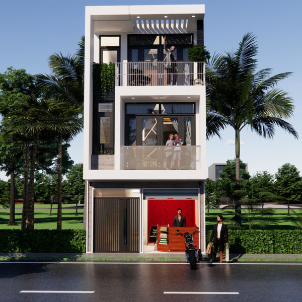 15x35 Feet House Design Ground Floor Shop Morden House