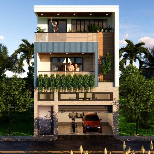 20x55 Feet House Design With Parking