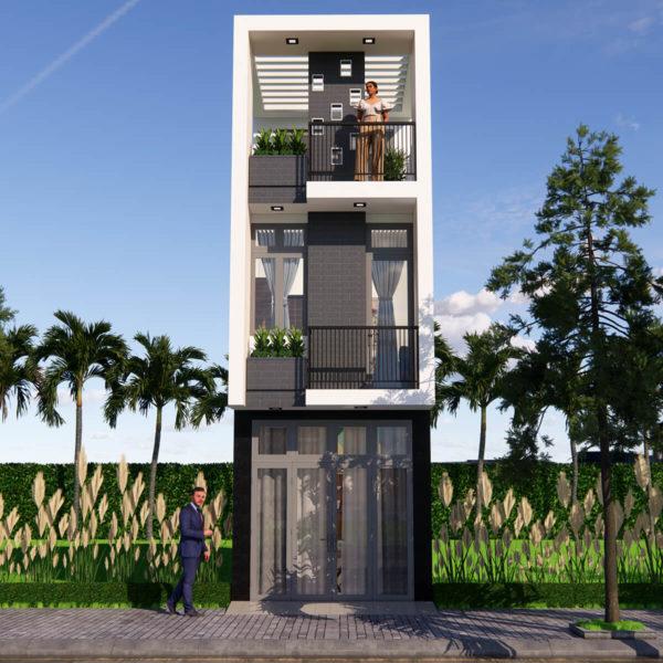 Small House Deign 10x42 Feet With 2 Bedroom