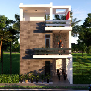 20x40 Feet 2BHK House Plan With Parking