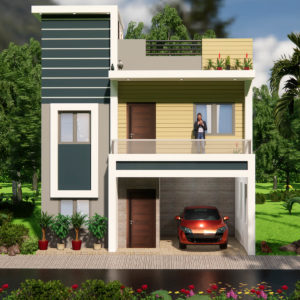 25X35 Duplex House Design House With Interior 2BHK House 900 sqf With Car Parking