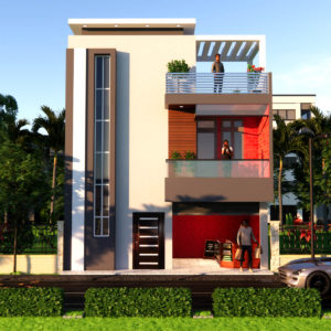 25x35 Feet Low Budget House Design With Shop