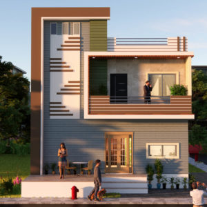 South Facing House 27x20 Feet Small Space House 540 Sqft With Front Elevation
