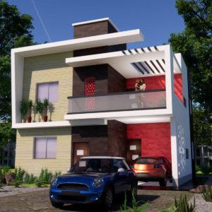 30x30 Feet Morden House Design 900 SQF Home Design With Car Parking