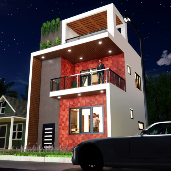 Small Space House 20x20 Feet 3BHK 400 SQF House Plan